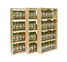 Solid Pine Spice Rack Contemporary Modern Style by SilverAppleWood, £21.00 ...hmm..in UK $....hmm...mitered corners....walmart?....
