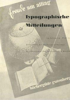 Cover Typographische Mitteilungen, 29. Jahrgang, Heft 12, Dezember 1932.