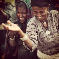 Women in Ethiopia celebrate clean water in their village.