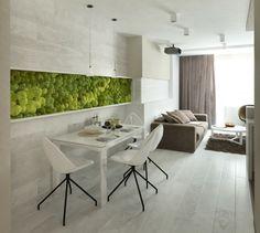 comedor estilo moderno proyector pared