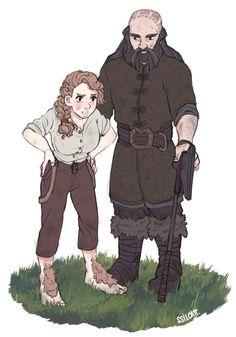Fem!Bilbo & Dwalin- saving for cosplay reference