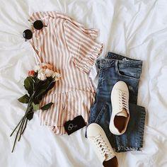 Your weekend uniform. ☀️ (Shop link in bio) Ootd, Pretty Outfits, Cute Outfits, Pretty Clothes, Fashion Lookbook, Fashion Trends, Fashion Hub, Female Fashion, Fashion Outfits