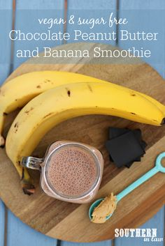 This Chunky Monkey Protein Smoothie Recipe combines chocolate, peanut butter and banana to create the ultimate protein packed breakfast or snack! Protein Smoothie Recipes, Fruit Smoothies, Healthy Smoothies, Healthy Food, Healthy Recipes, Healthy Breakfasts, Healthy Drinks, Eating Healthy, Healthy Meals