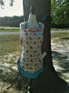 fall apron, thanksgiving apron, halloween apron, owl apron, womens apron, ladies apron, apron with pockets, ruffled apron, gift for her by ChristinaInStitches on Etsy