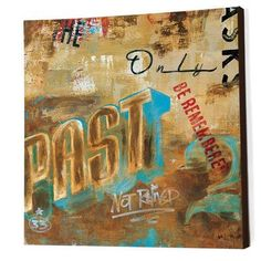 "Rodney White ""The Past Only Asks"" by Rodney White Vintage Advertisement on Wrapped Canvas Size: 36"" H x 36"" W x 1.5"" D"