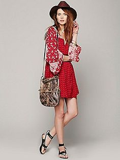 Dreamy Daze print dress - Cherry Combo