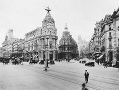 La Gran Vía Madrid in the 1920s