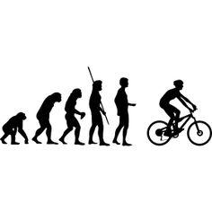 Evolution Mountainbiker - Die Evolution der Menschheit vom Affen �ber einen Neandertaler bis hin zum Mountainbiker auf einen Crossrad.