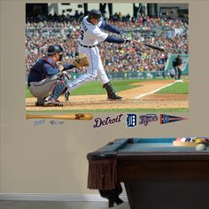 Miguel Cabrera Swings Away Mural, Detroit Tigers