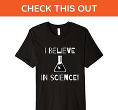 Mens I BELIEVE IN SCIENCE! T-Shirt 2XL Black - Math science and geek shirts (*Amazon Partner-Link)