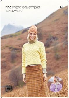Rico KIC 1046 Sweater Cardigan & Hat Hand Knitting, Knitting Patterns, Crochet Patterns, Cable Sweater, Sweater Cardigan, Black Sheep Wool, Rico Design, Beautiful Patterns, Beanie Hats