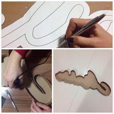 Cardborad 3D letters - Karton 3 boyutlu harfler #diy