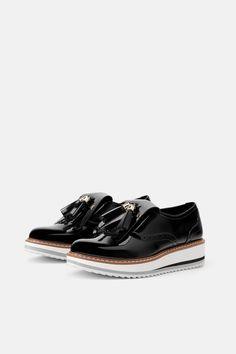 7b55c803cd4f Zara 1.5 Platform Black and White Flats Zara