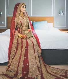 Weddings are a special day in the life of the bride and groom, as the two are joined together. Bridal Hijab Styles, Latest Bridal Dresses, Pakistani Wedding Outfits, Pakistani Wedding Dresses, Bridal Outfits, Wedding Hijab, Bridal Dress Design, Bridal Style, Desi Bride