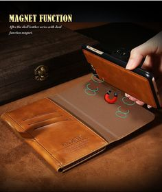 Vintage Leather Three Fold Flip Wallet Case For iPhone 7 Plus | Luxury Phone Case