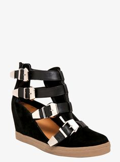 Torrid Buckle Wedge Sneakers (Medium Width) on shopstyle.com