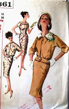 vintage 60's Simplicity 3361 DRESS and jacket with by monicacarmel