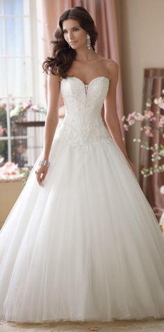Princess style ~ David Tutera for Mon Cheri Spring 2014 Bridal Collection