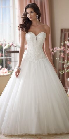 Princess style ~ David Tutera for Mon Cheri Spring 2014 Bridal Collection