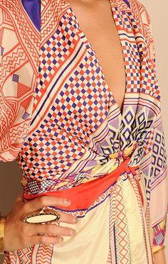VESTIT KIMONO  Issa Short Kimono Dress in Multicolor (multi) - Lyst