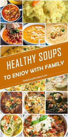 Amazing Healthy Soups To Enjoy With Family – Healthy Food: Recipes, food and diet, weight loss Healthy Soups, Good Healthy Recipes, Real Food Recipes, Soup Recipes, Healthy Food, Healthy Eating, Cooking Recipes, Party Recipes, Recipies