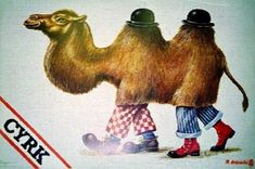 2 men = 1 camel, 1981, by Rafal Olbinski
