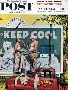 Billboard Painters – Stevan Dohanos – July 13, 1957