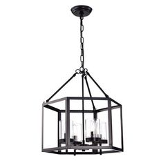 Found it at Wayfair - Hexagon 4-Light Candle-Style Chandelier