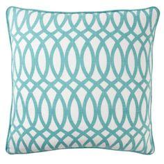 "#zgallerie  Geo Pillow 22"" - Aquamarine from Z Gallerie $59.95"