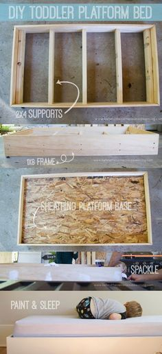 DIY Toddler Bed - would be great in a playroom