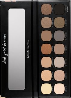 Bare Minerals Ready Eyeshadow Palette fans get ready to have your mind blown! The Bare Minerals The Nature Of Nudes Ready Eyeshadow Palette is a new 14 sha Acne Makeup, Skin Makeup, Beauty Makeup, Makeup Palette, Eyeshadow Palette, Eyeshadows, Mac Lipsticks, Bare Minerals Makeup, Makeup Over 50