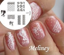 Konad Image Plate m71 for Stamping Nail Art Transfer Stencils barbi