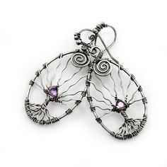 On Hold Amethyst and sterling silver tree by DreamingTreesJewelry, $85.00