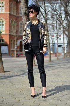 Beeswonderland: Silk bomber jacket