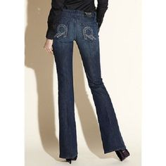 Rock & Republic Jeans Size 30 Low Rise Trendy Sexy Denim Flare Roth Vela Blue #RockRepublic #Flare