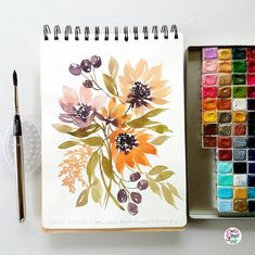 Work time again… Paper: Ilahui sketchbook Brush: Escoda Versatil round no 8 Paint: Prima watercolors Prima Watercolor, Watercolor Landscape, Watercolor Flowers, Watercolor Paintings, Watercolours, Watercolor Sketchbook, Watercolor Portraits, Abstract Paintings, Unique Drawings