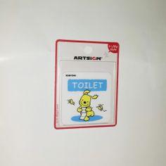 Cute Charactor Toilet Sign Board Sticker