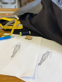 sketches of our new made in England ladies dungarees Ladies Dungarees, Bespoke Clothing, Cufflinks, Sketches, England, Luxury, Lady, Accessories, Clothes