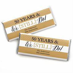 Your guests will love our We Still Do Wedding Anniversary personalized anniversary candy bar wrapper favors. You'll love handing them out. Anniversary candy bar wrapper favors are a fun and easy way to add that distinctive personalized touch to you Creative Wedding Favors, Beach Wedding Favors, Wedding Favors For Guests, Wedding Ideas, Diy Wedding, Wedding Gifts, Handmade Wedding, Luxury Wedding, Gatsby Wedding