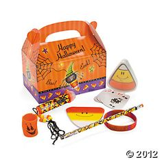 Candy Corn Spider Filled Treat Box