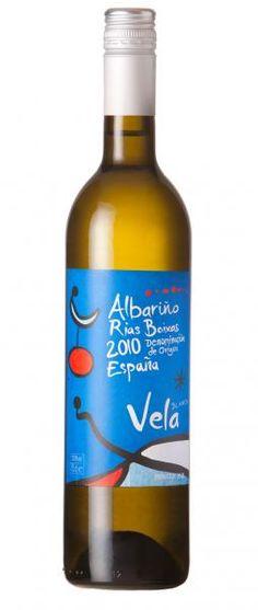 Vela Rias Baixas Albarino bottle shot Repinned by #TapasFiesta