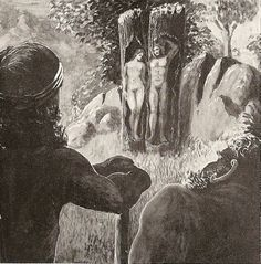 Askr and Embla, in Norse mythology, the first man and first woman, were created from tree trunks found on the seashore by three gods—Odin and his two brothers, Vili and Ve Norse Pagan, Old Norse, Norse Religion, Thor, World Mythology, Creation Myth, Germanic Tribes, Legends And Myths, Asatru