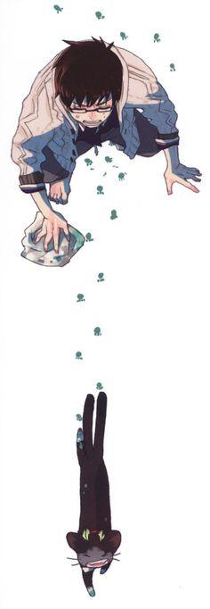 Yukio & Kuro - Blue Exorcist