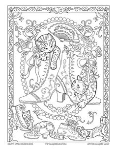Victorian Shoes : Creative Kittens Coloring Book by Marjorie Sarnat