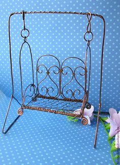 Dollhouse handmade. Fair Masters - Swing for handmade dolls. Handmade.