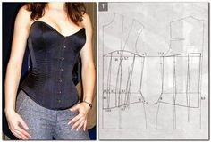 How to sew a corset. Discussion on LiveInternet - Russian Service Online Diaries Diy Clothing, Sewing Clothes, Clothing Patterns, Dress Patterns, Doll Clothes, Diy Fashion, Ideias Fashion, Fashion Design, Corset Tutorial