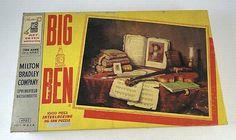 Vintage 1940 Milton Bradley Big Ben Jig Saw Puzzle, Never Opened, 1000 Pieces    $14.99