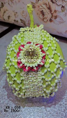 Flower Garlands, Flower Decorations, Wedding Decorations, Coconut Decoration, Pooja Room Design, Hindu Bride, South Asian Bride, Bridal Hair Flowers, Wedding Crafts