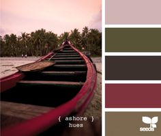 Dit is de kleur combinatie voor de woonkamer denk ik.... taupe met aubergine