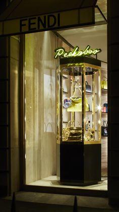 The new Fendi vending machine windows in Paris